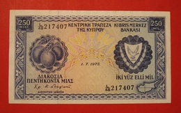 CHYPRE. 250 MILS 1975. BEL ETAT. BANKNOTE. CYPRUS. - Chypre