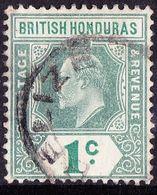 BRITISH HONDURAS 1904 KEDVII 1 Cent Grey-Green & Green SG84 Fine Used - British Honduras (...-1970)