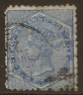 NZ 1874 6d Blue FSF SG 156 U* #AUA16 - Used Stamps