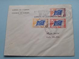 CONSEIL DE L'EUROPE - COUNCIL OF EUROPE : Stamp Anno 1959 Bas-Rhin / Strasbourg ( Voir Photo) Enveloppe ! - 1959