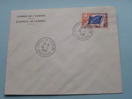 CONSEIL DE L'EUROPE - COUNCIL OF EUROPE : Stamp Anno 1959 Strasbourg ( Voir Photo) Enveloppe ! - Europa-CEPT