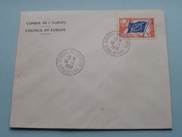 CONSEIL DE L'EUROPE - COUNCIL OF EUROPE : Stamp Anno 1959 Strasbourg ( Voir Photo) Enveloppe ! - 1959