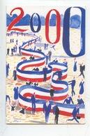 """Nicolas Vial Peintre Officiel De La Marine """"2000"""" Voeux Républicains Année 2000 (CP Double Vierge) - Paintings"""