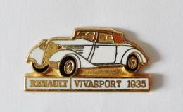 Pin's Voiture Renault Vivasport 1935 Signé CEF - Badges