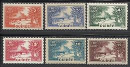 GUINEE 1938 YT 125/130** MNH - Guinée Française (1892-1944)