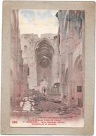 GUERRE  1914   REIMS - Eglise Saint Rémi - Intérieur Bombardé Par Les Allemands - TON1 - - War 1914-18