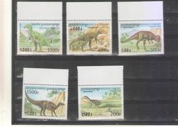 Cambodia 1999 MNH Dinosaurs Prehistorics - Preistorici