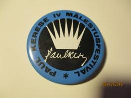 CHESS PAUL KERES 4th MEMORIAL Festival Button Badge Pin , 0 - Games