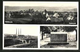 AK Wolferode, Totalansicht, Kriegerdenkmal, Ortspartie - Germania