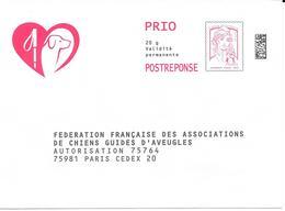 PAP : Fédération Française Des Associations De Chiens Guides D'aveugles. (Voir Commentaires) - Entiers Postaux
