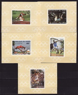 Niger, 1984 Summer Olympics, 5 Lux Blocks Imperforated - Summer 1984: Los Angeles