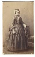CDV FEMME  PHOTO ALPHONSE PLUMIER BRUXELLES FOTO VROUW BRUSSEL - Oud (voor 1900)