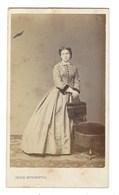 CDV FEMME  PHOTO MITKIEWICZ BRUXELLES FOTO VROUW BRUSSEL - Oud (voor 1900)