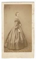 CDV FEMME  PHOTO BILLOTTE BRUXELLES FOTO VROUW BRUSSEL - Oud (voor 1900)
