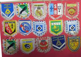RRRARE Collection 50 écussons Fanions Foot Football Anciens à Suspendre En Tissu France International 10x8cm Be - Habillement, Souvenirs & Autres