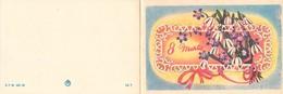 D1451 Snowdrops Fantasy Mother Day Fantasy Greetings Card - Fête Des Mères