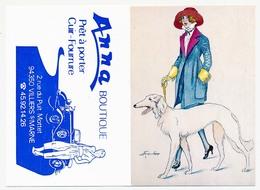 Calendrier De Poche 1987 (3) Illustrateur XAVIER SAGER  Publicité Anna Boutique Prêt à Porter Villiers S/Marne (94) - Calendriers