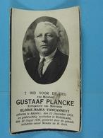 Gustave Plancke épx Vancanneyt Ardoye 1879 Roeselare 1936 - Devotion Images