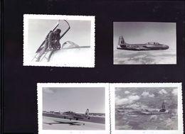14 Photos Avions De Chasse Et Pilote - Aviation