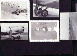 16  Photos Avions De Chasse Et Pilote 1956 - Aviation