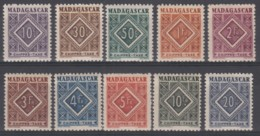 Taxe N° 31 Au N° 40 - X - ( C 1662 ) - Madagascar (1889-1960)
