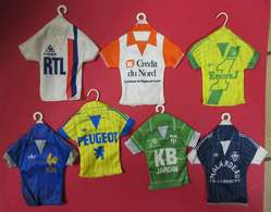 RRRARE Collection 7 Mini Maillots à Suspendre  Foot Football Anciens Publicité - Habillement, Souvenirs & Autres