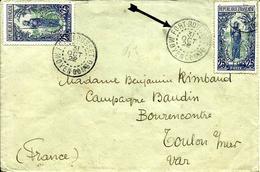 Cachet De  FORT  ROUSSET Sur N° 55   Pour Toulon -1922 - - French Congo (1891-1960)