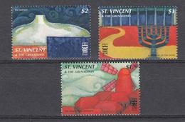 ST VINCENT GRE- 1996 The 3000th Anniversary Of Jerusalem    - 3 V   Neufs** - Clas 08-96 - Storia