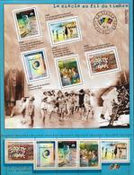 2000 France  Le Siecle Au Fil Du Timbre(II) Societe Grand Feuillet-M/S Superbe-MUH Yv32  **MNH - Blocs & Feuillets