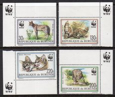 Burundi 0968/71 Serval , Félin - W.W.F.