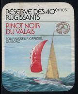 Rare // Etiquette De Vin // Bateau à Voiles // Pinot Noir, Réserve Des 40èmes Rugissants - Bateaux à Voile & Voiliers