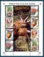 Burundi 1078/81 Sitatunga, Feuille De 2 Sets - W.W.F.