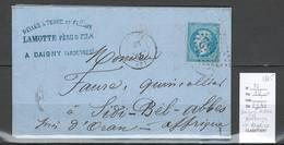 Lettre De Daigny- SEDAN - Ardennes Pour Sidi Bel ABBES En Algérie - 1865 - Postmark Collection (Covers)