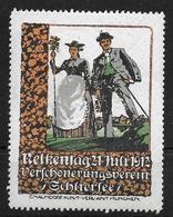 Bayern Nelkentag 1912 Schliersee Vignet Reklamemarke Cinderella - Beieren