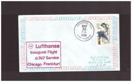 LUFTHANSA- 31 5 1970 FFC B747  CHICAGO-FRANCOFORTE - Aerei
