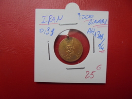 IRAN 2000 DINARS OR AH1319/24 POIDS :0,9 GRAMMES AVEC L'ANNEAU - Iran