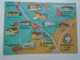 D162395 Map Karte Carte Hungary Biharkeresztes  -Nagykereki - Mezőpeterd- Bedő - Bojt- Oradea  Ártánd - Maps