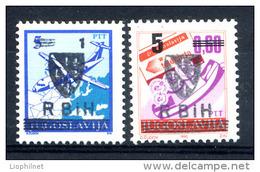 BOSNIE MUSULMANE 1994, 2 Valeurs Surchargées, Neufs / Mint. R609 - Bosnie-Herzegovine