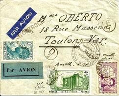 Lettre Avec Controle Postal Et N°146 (Bastille) -1939- - Côte-d'Ivoire (1892-1944)