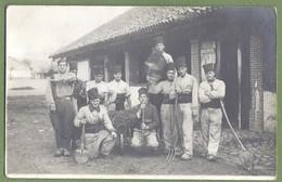 CARTE PHOTO MILITARIA ALGERIE - SOLDATS DU 3ème RÉGIMENT DE ZOUAVE DE CONSTANTINE - Photo POP Constantine - Regimente