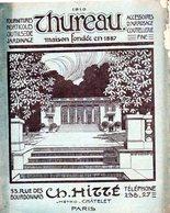 75 Paris THUREAU Jardinage Couteau Horticulture Catalogue 1910 HITTE ( Queqlues Pages Abimées) - Publicités