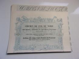 CHEMIN DE FER DU NORD De Paris A La Frontiere De Belgique (1852) - Actions & Titres