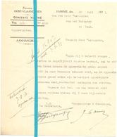 Brief Lettre - Gemeente Hamme - Naar Kadaster 1931 - Vieux Papiers