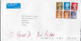 STORIA POSTALE U.K. - BUSTA AFFRANCATA PENTACOLORE - 1952-.... (Elisabetta II)