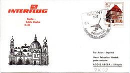 """(DDR-B1) DDR Sonderumschlag """"INTERFLUG Berlin - Addis Abeba  IL62"""" EF Mi 2298, SSt.7.4.79 BERLIN 7 - Cartas"""