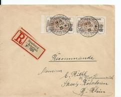 Lettre Recommandée Avec Paire Orphelins N°167 , 1922 - France