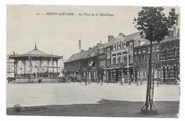 62 HENIN LIETARD  La Place De La République   Kiosque - Henin-Beaumont
