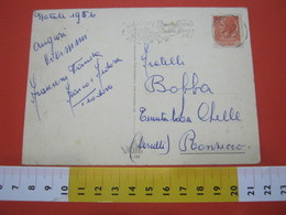 T1 ITALIA ANNULLO TARGHETTA - 1956 TORINO BUON NATALE BUON ANNO PTT PASTORI COMETA STELLA STAR - Natale