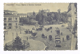 Cartolina Palermo - Piazza Marina  E Giardino Garibaldi - 1914 - Palermo