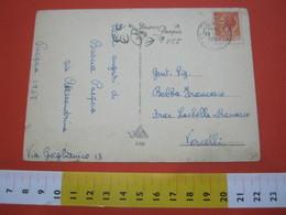 T1 ITALIA ANNULLO TARGHETTA - 1957 TORINO STAZIONE PORTA NUOVA BUONA PASQUA CAMPANE RONDINI BIRD - Pasqua